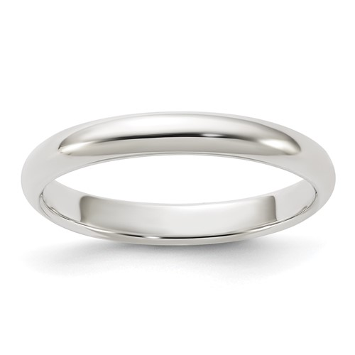 Sterling Silver 3mm Oval Wedding Band