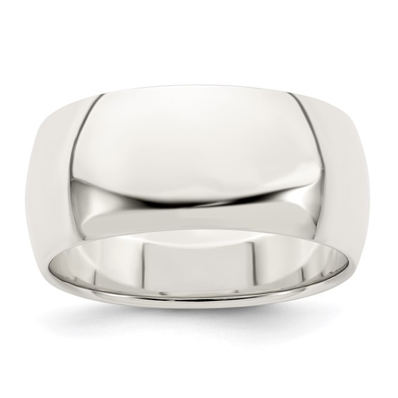 Sterling Silver 9mm Oval Wedding Band