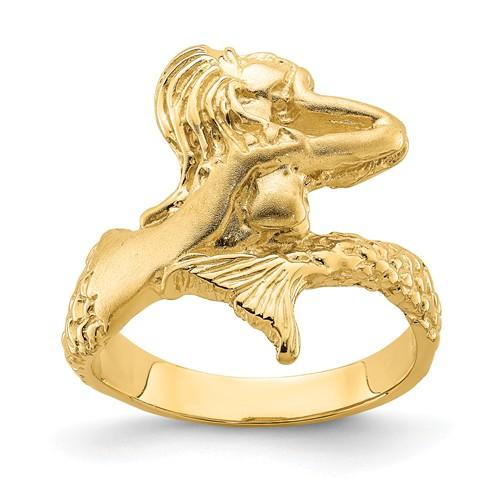 14k Yellow Gold Mermaid Ring