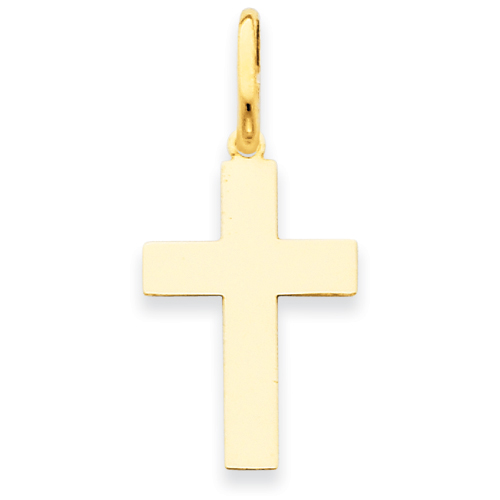 14kt 3/4in Polished Cross Pendant
