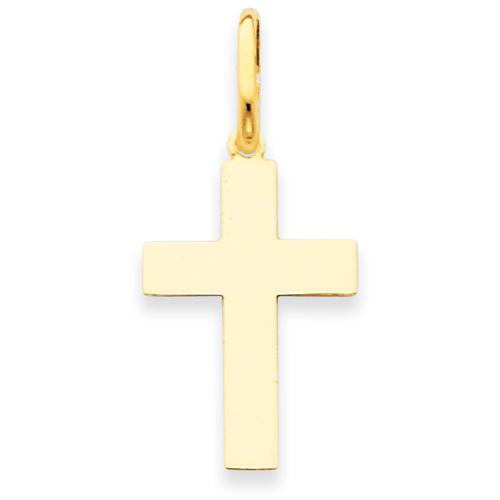 14kt 3/4in Polished Cross Pendant