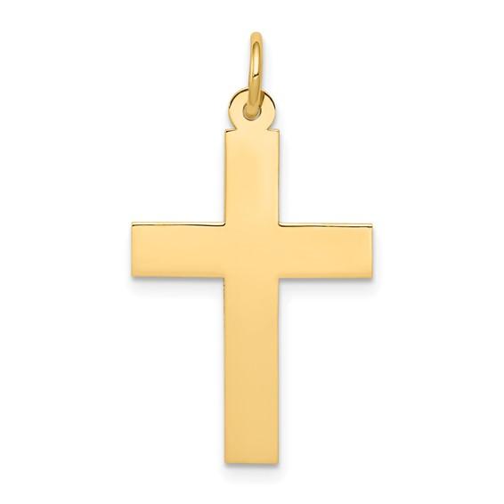 14kt 1in Polished Cross Pendant