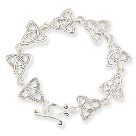 7.5in Celtic Trinity Toggle Bracelet