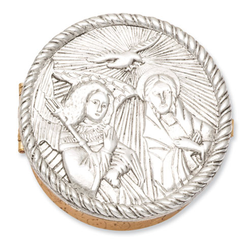 Gold & Silver-tone Annunciation Small Rosary Box