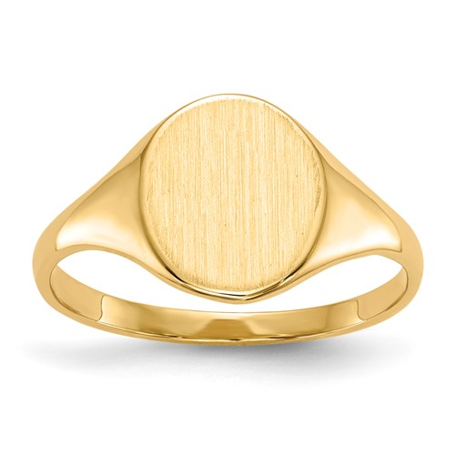 14kt Yellow Gold Ladies' Slender Signet Ring