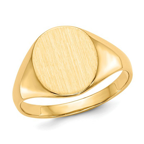 14kt Yellow Gold Ladies' Oval Signet Ring with Open Back
