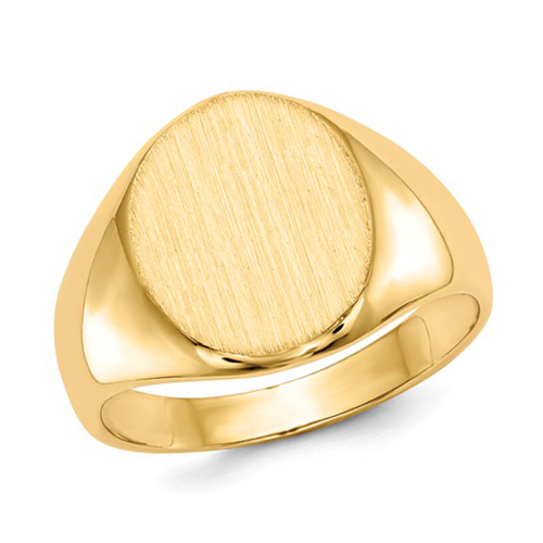 14kt Yellow Gold Ladies' Wide Signet Ring