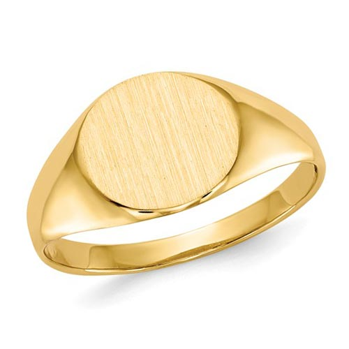 14k Yelllow Gold Ladies' Oval Signet Ring