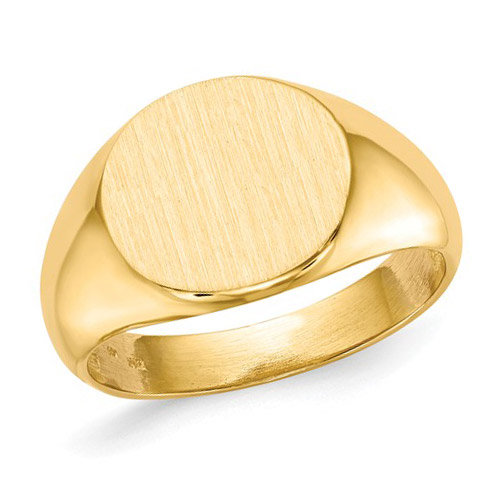 14kt Yellow Gold Men's Signet Ring