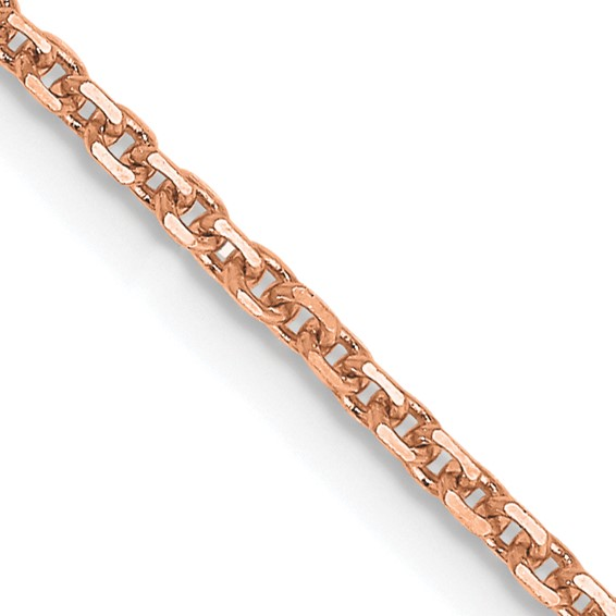 14kt Rose Gold 16in Diamond-cut Cable Chain 1.4mm