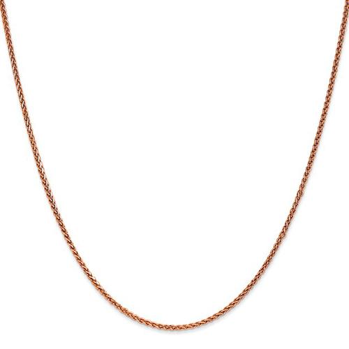 14kt Rose Gold 24in Diamond-cut Spiga Chain 1.4mm