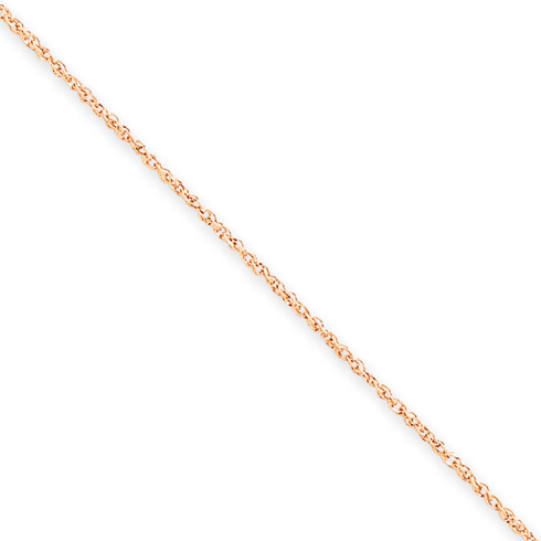 14kt Rose Gold 18in Rope Chain .7mm