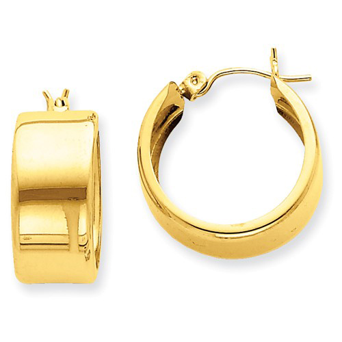 14kt Yellow Gold 3/4in Huggie Hoop Earrings 8.25mm