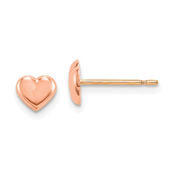 14kt Rose Gold Madi K Heart Post Earrings