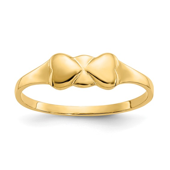 14kt Yellow Gold Madi K Heart Baby Ring