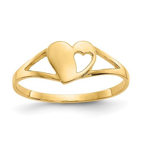 14kt Yellow Gold Madi K Heart Baby Ring