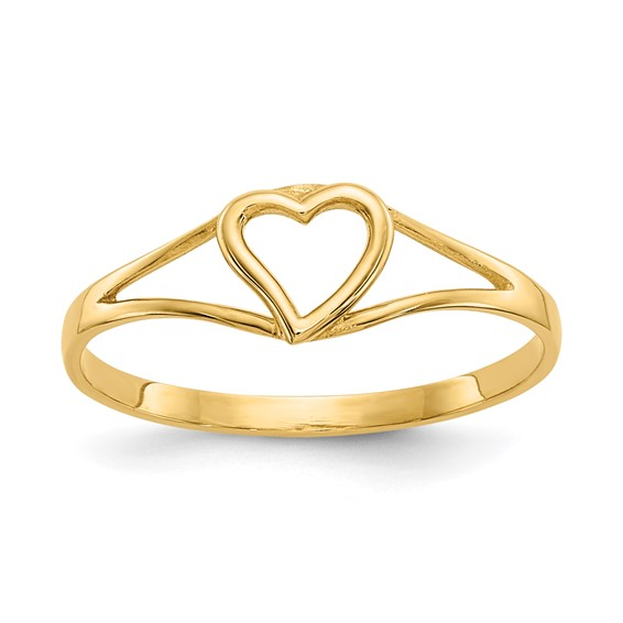 14kt Yellow Gold Madi K Open Heart Baby Ring