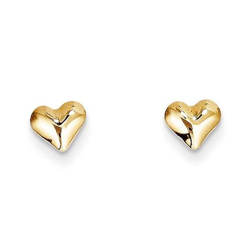 14kt Yellow Gold Madi K Puffed Heart Earrings