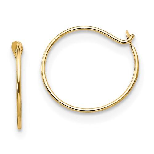 14kt Yellow Gold Madi K 7/16in Endless Hoop Earrings