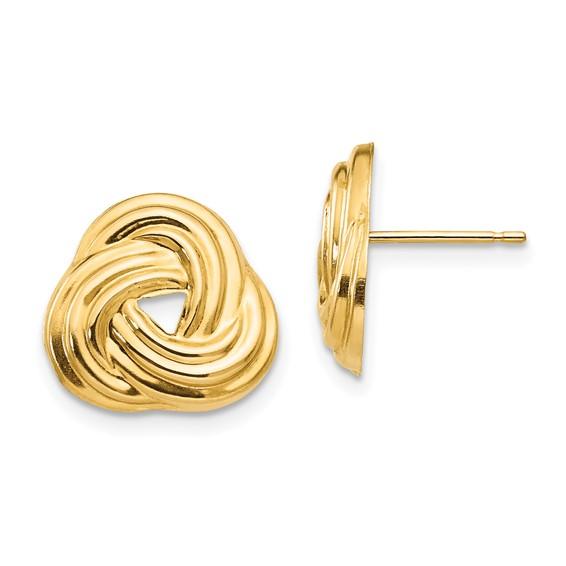 14kt Yellow Gold Madi K Love Knot Earrings