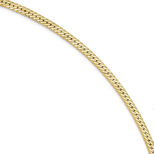 14kt Yellow Gold 7in Italian Hollow Woven Link Bracelet