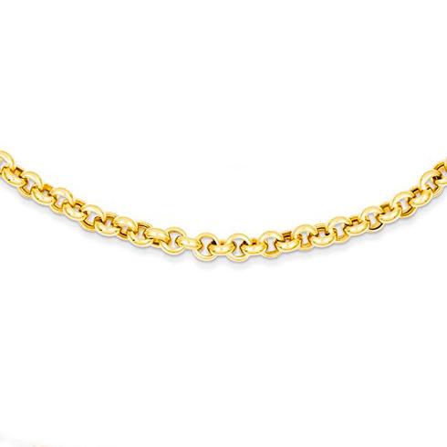 14kt Yellow Gold 7 1/2in Rolo Link Bracelet