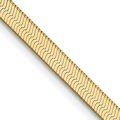 14kt Yellow Gold 18in Silky Herringbone Chain 3.0mm