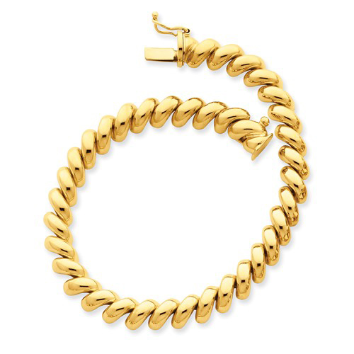 14kt Yellow Gold 7in San Marco Bracelet 6mm