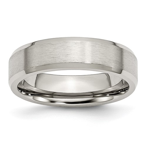 6mm Stainless Steel Flat Ring with Beveled Edges