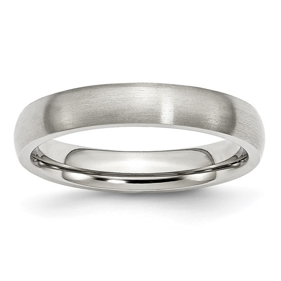 4mm Brushed Stainless Steel Ring