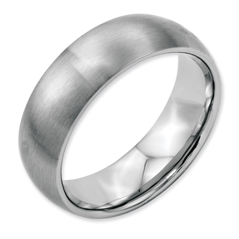 7mm Brushed Stainless Steel Ring
