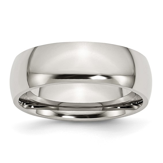 7mm Stainless Steel Domed Ring