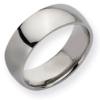 8mm Stainless Steel Domed Ring