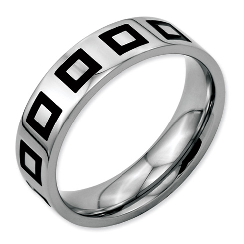6mm Stainless Steel Ring with Enamel