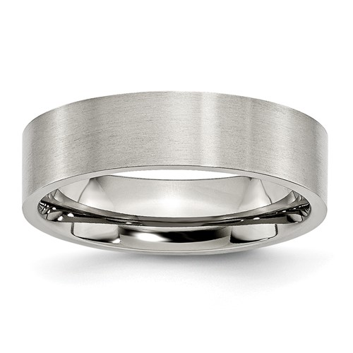 6mm Brushed Stainless Steel Flat Ring