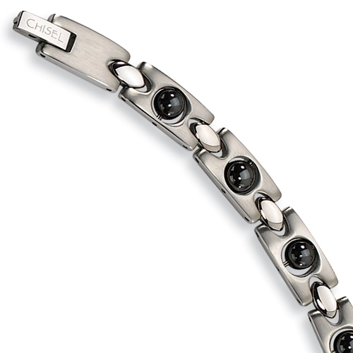 Stainless Steel Bracelet - Magnetic Links 8.5in