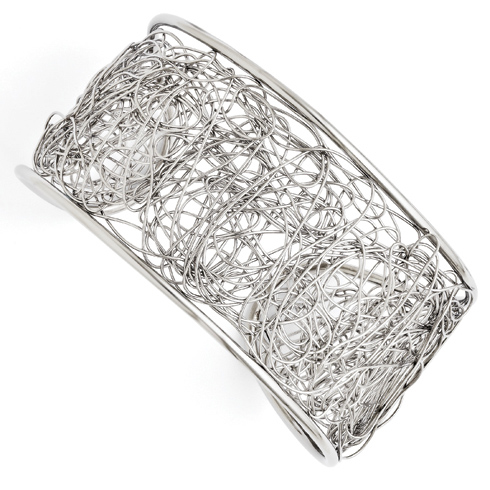 Stainless Steel Jackson Wire Cuff Bangle