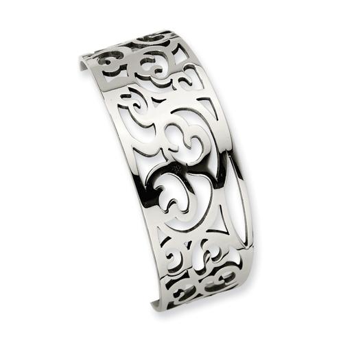 Stainless Steel Fancy Cuff Bracelet