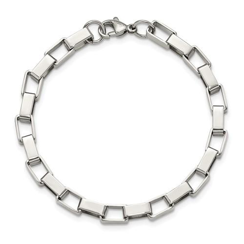 Stainless Steel Link Bracelet 8in