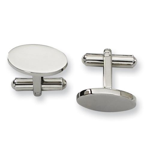 Oval Stainless Steel Cufflinks