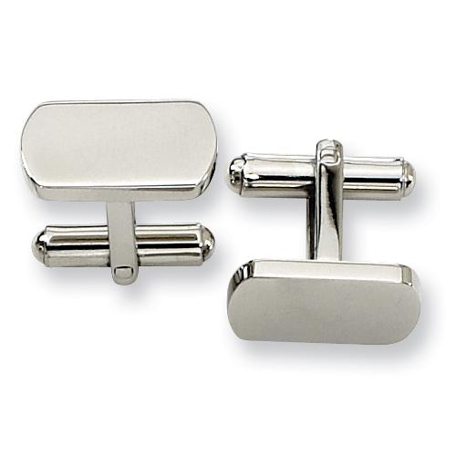 Stainless Steel Oblong Cufflinks
