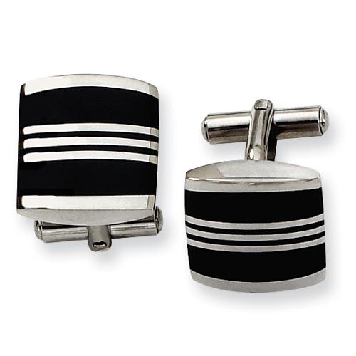 Enameled Stainless Steel Cufflinks