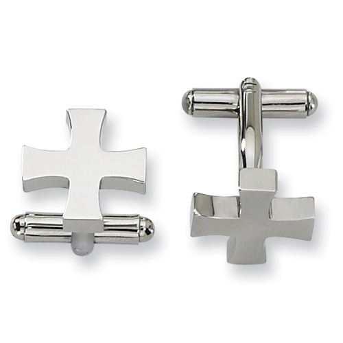 Stainless Steel Cross Cufflinks