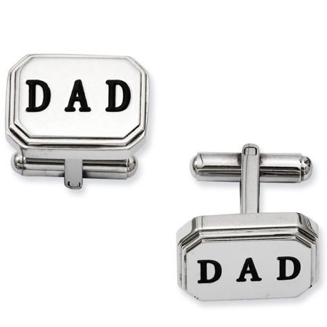 Stainless Steel Dad Cufflinks