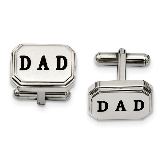 Stainless Steel Dad Cufflinks