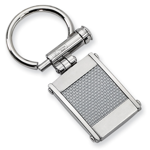 Stainless Steel Key Chain with Carbon Fiber
