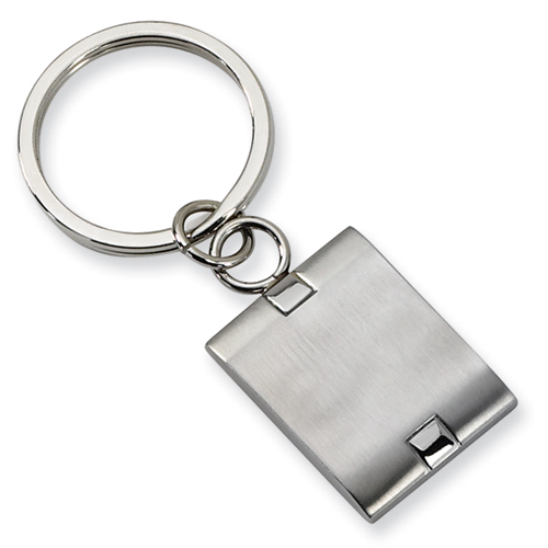 Stainless Steel Engravable Brushed Key Chain
