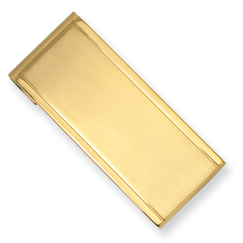 Stainless Steel Gold Plated Money Clip