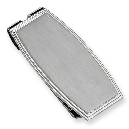 Stainless Steel Brushed Money Clip