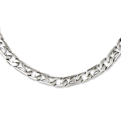 Stainless Steel Polished Links 24in Necklace